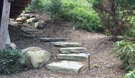 rustic stone steps residential landscape architecture