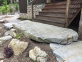 large stone entry step residential landscape architecture asheville